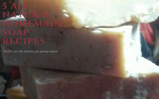 5 All Natural Homemade Soap Recipes For Holiday Gifts