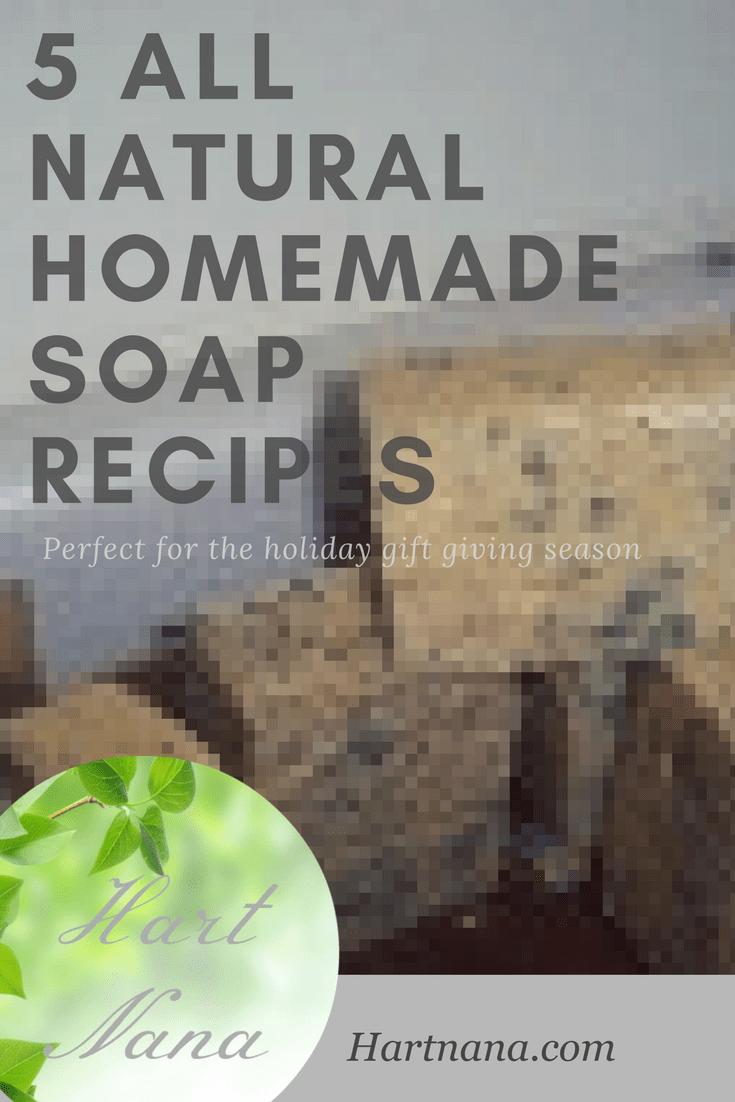 how to make natural homemade soap recipes
