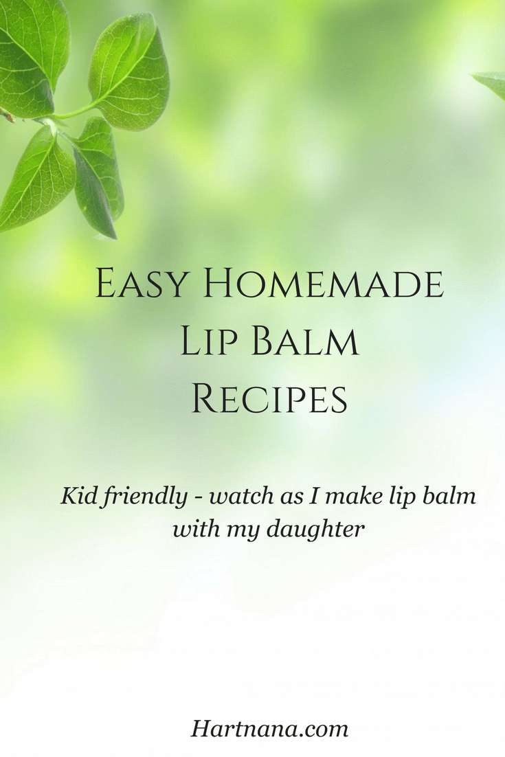 Easy homemade lip balm recipes. Great homeschool or kid project